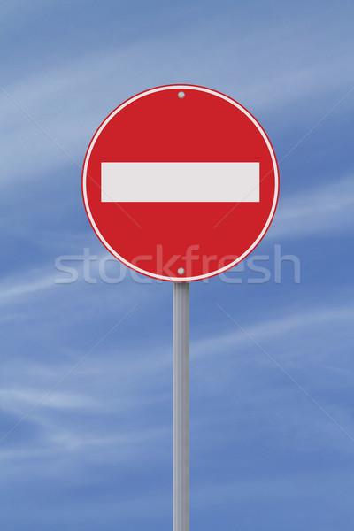 Do Not Enter  Stock photo © lorenzodelacosta