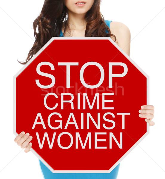 Stop Crime Against Women  Stock photo © lorenzodelacosta