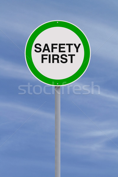Safety First  Stock photo © lorenzodelacosta