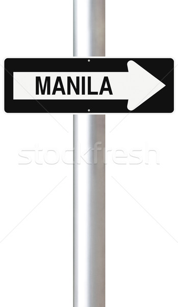 Manille ville signe direction Photo stock © lorenzodelacosta