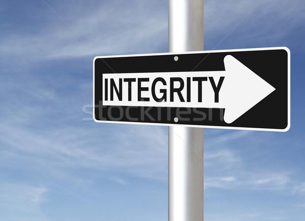Integrity Road Sign  Stock photo © lorenzodelacosta