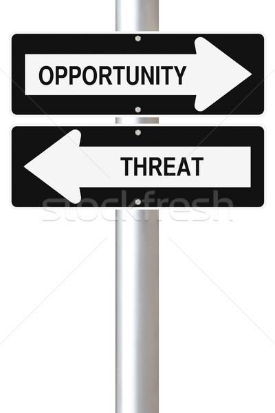 Ameaça sinais negócio conceitos Foto stock © lorenzodelacosta