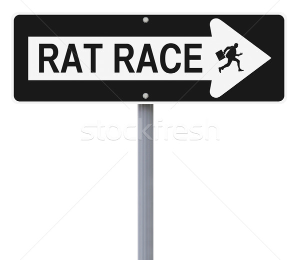 Patkány verseny üzlet felirat üzletember fut Stock fotó © lorenzodelacosta