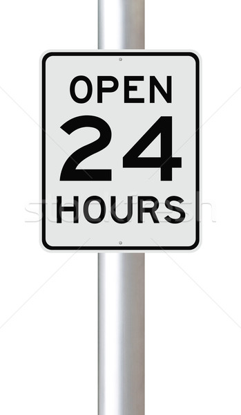 Open 24 Hours  Stock photo © lorenzodelacosta