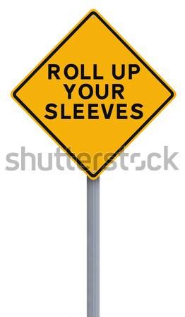 Toczyć w górę znak drogowy podpisania odizolowany białe tło Zdjęcia stock © lorenzodelacosta