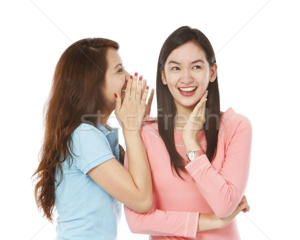Stockfoto: Jonge · vrouwen · geheime · witte · vrouwen