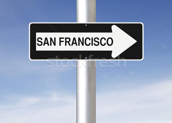 San Francisco USA signe Photo stock © lorenzodelacosta