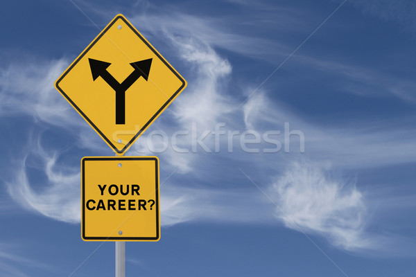 Career Decision Road Sign  Stock photo © lorenzodelacosta