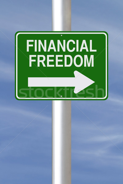 This Way to Financial Freedom   Stock photo © lorenzodelacosta