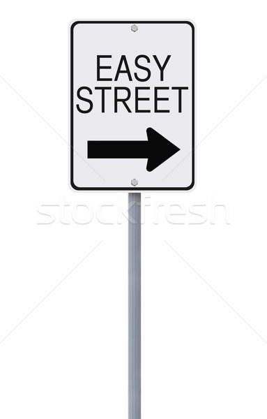 Easy Street Road Sign  Stock photo © lorenzodelacosta