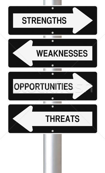 戦略的 分析 標識 経営分析 にログイン ストックフォト © lorenzodelacosta