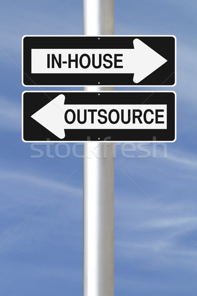 In-House or Outsource  Stock photo © lorenzodelacosta