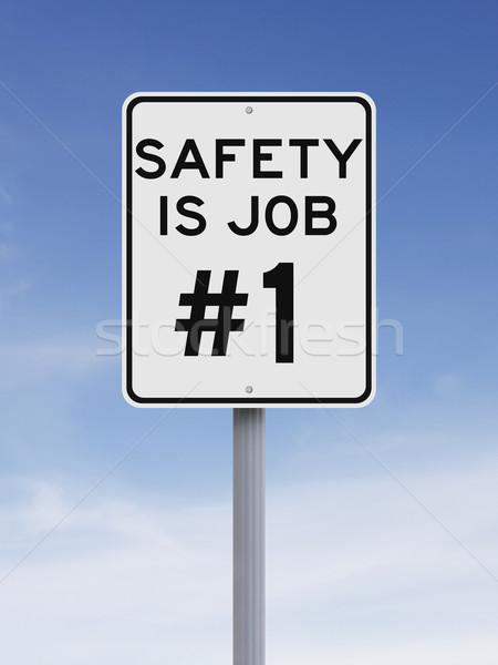 Sécurité Emploi limite de vitesse signe importance Photo stock © lorenzodelacosta