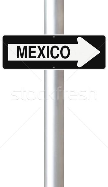 Мексика Мехико город знак Сток-фото © lorenzodelacosta