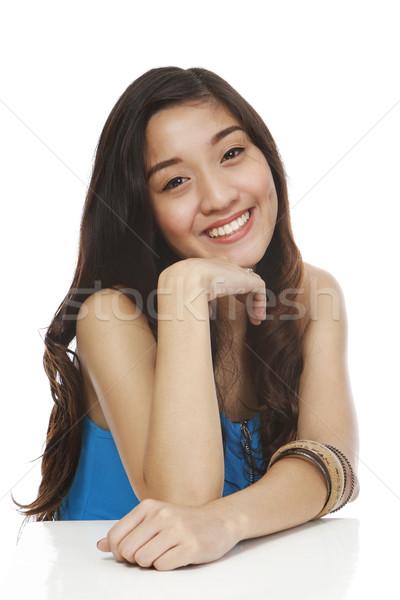 улыбаясь изолированный белый молодые Сток-фото © lorenzodelacosta