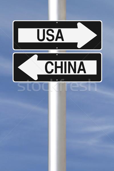 EUA China signos Foto stock © lorenzodelacosta
