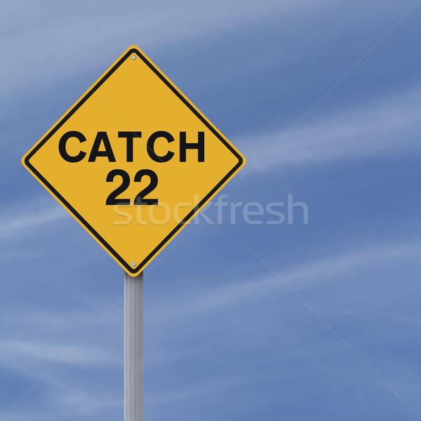22 à frente placa sinalizadora céu conceptual Foto stock © lorenzodelacosta