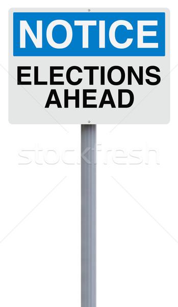 Stok fotoğraf: Seçimler · önde · imzalamak · kavram