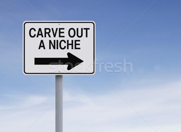 Sur niche signe de rue marketing principe Photo stock © lorenzodelacosta