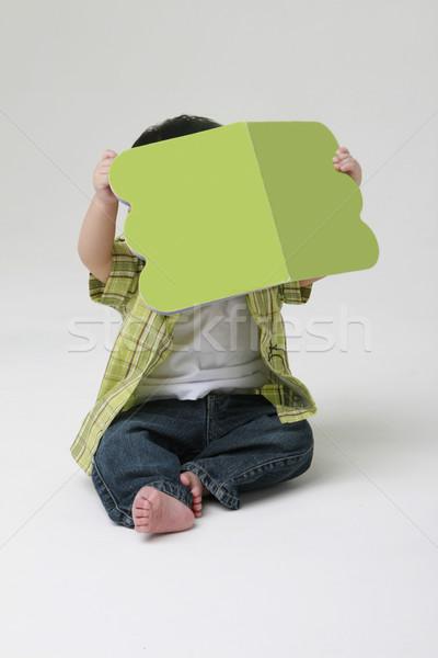 Olvas kisgyerek fiatal néz könyv baba Stock fotó © lorenzodelacosta