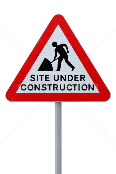Site Under Construction (with clipping path)  Stock photo © lorenzodelacosta