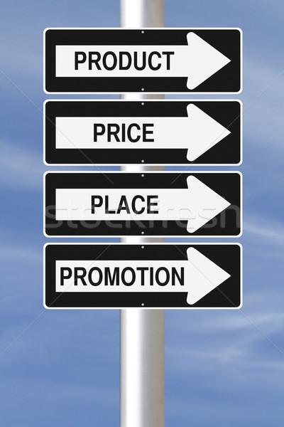 Marketing princípios rua sinais assinar Foto stock © lorenzodelacosta