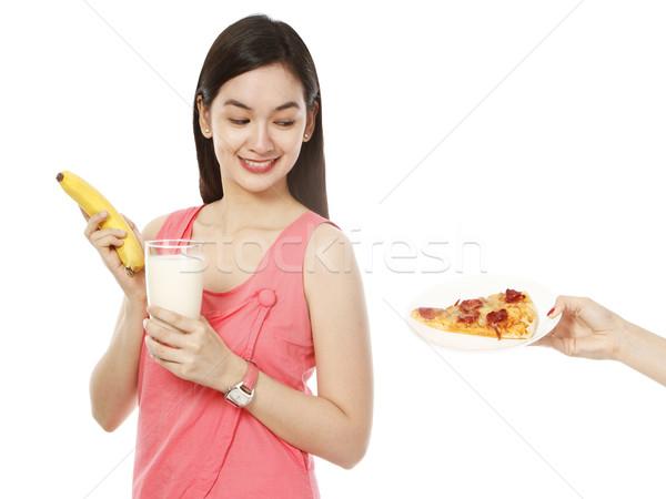 Pizza iyi sağlıklı sağlıksız gıda Stok fotoğraf © lorenzodelacosta