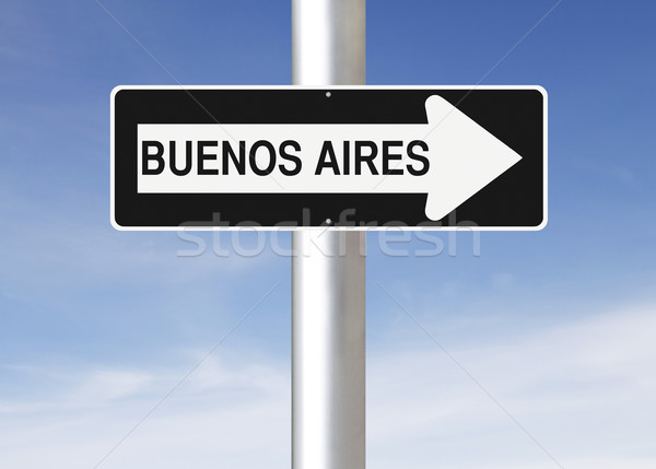 This Way to Buenos Aires  Stock photo © lorenzodelacosta