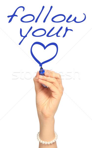 Follow Your Heart  Stock photo © lorenzodelacosta