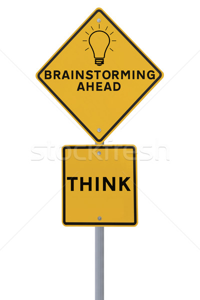 Brainstorming Road Sign  Stock photo © lorenzodelacosta
