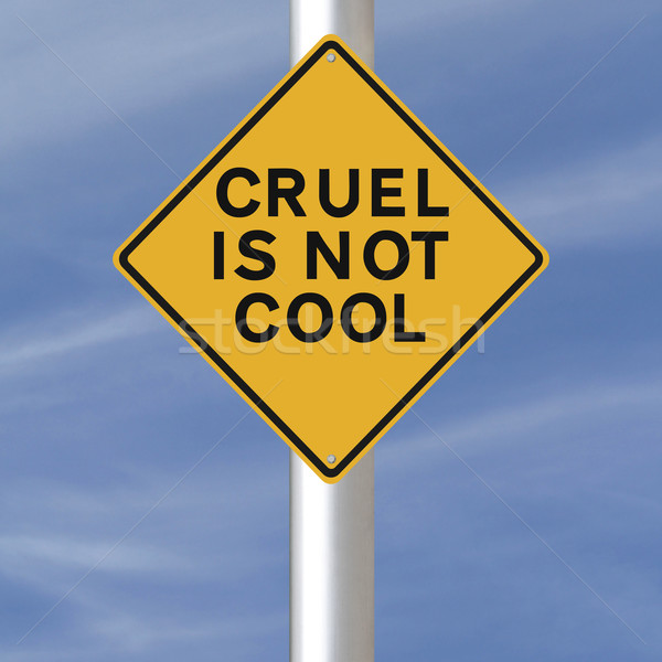Wreed niet cool verkeersbord wreedheid hemel Stockfoto © lorenzodelacosta