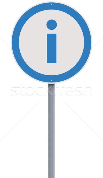Információ jel jelzőtábla információ szimbólum biztonság fehér háttér Stock fotó © lorenzodelacosta