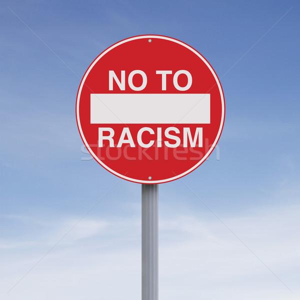 Pas racisme signe bleu concept Photo stock © lorenzodelacosta