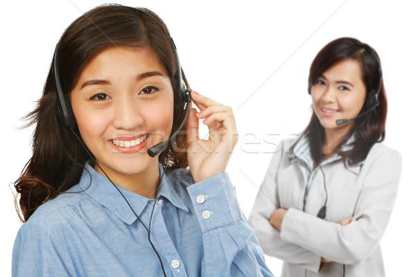 することができます ヘルプ 2 若い女性 着用 女性 ストックフォト © lorenzodelacosta
