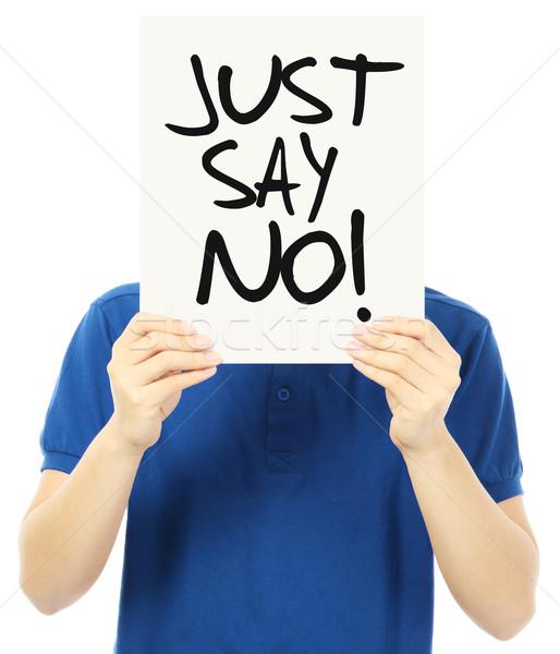 Just Say No  Stock photo © lorenzodelacosta
