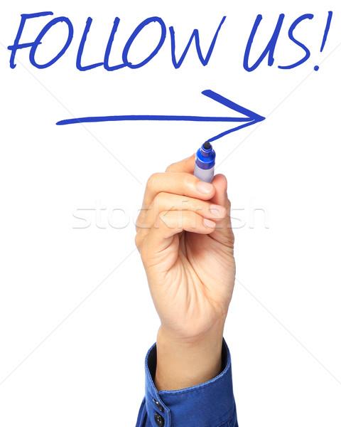 Follow Us  Stock photo © lorenzodelacosta
