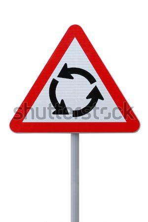Rotonde teken witte geïsoleerd metaal Stockfoto © lorenzodelacosta