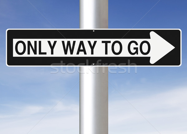 Only Way To Go  Stock photo © lorenzodelacosta