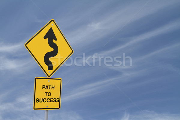 Path to Success Road Sign  Stock photo © lorenzodelacosta