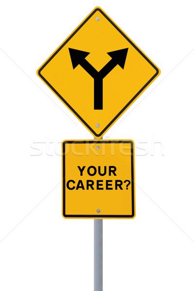 Career Decision Road Sign  Stock photo © lorenzodelacosta