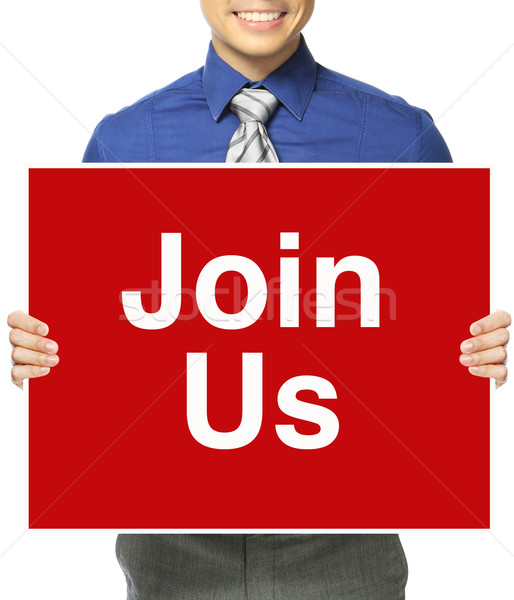 Join Us!  Stock photo © lorenzodelacosta