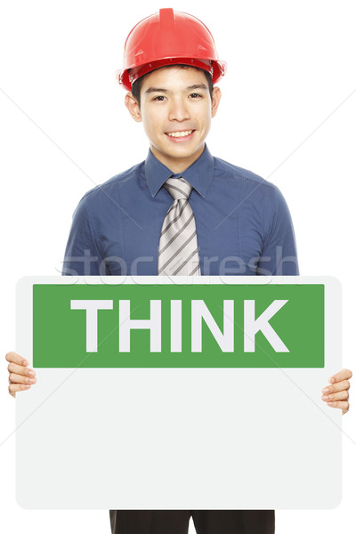 Think Safety Sign Stock photo © lorenzodelacosta