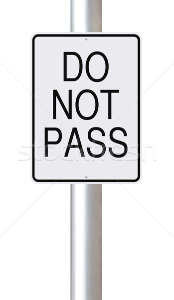 Do Not Pass  Stock photo © lorenzodelacosta