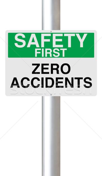 Zéro signe importance sécurité concept avertissement Photo stock © lorenzodelacosta