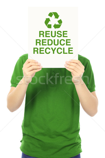 Reduce, Reuse, and Recycle  Stock photo © lorenzodelacosta