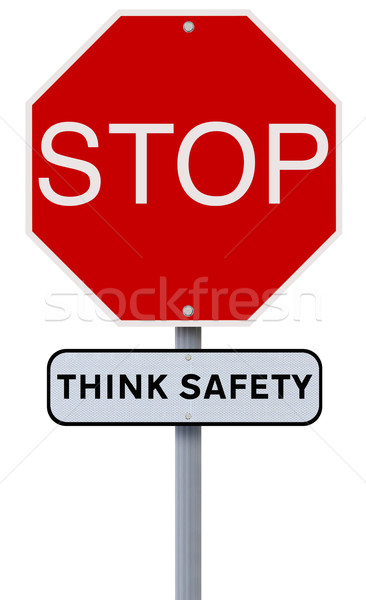 Stop: Think Safety  Stock photo © lorenzodelacosta
