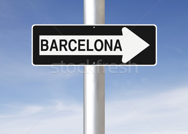 This Way to Barcelona  Stock photo © lorenzodelacosta