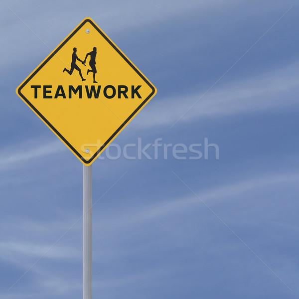 Teamwork Sign  Stock photo © lorenzodelacosta