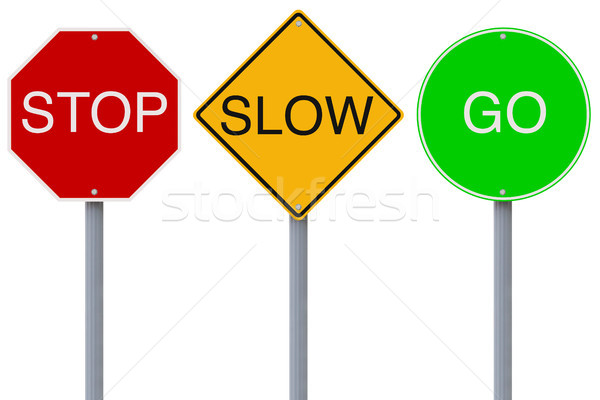 Stop Slow Go  Stock photo © lorenzodelacosta