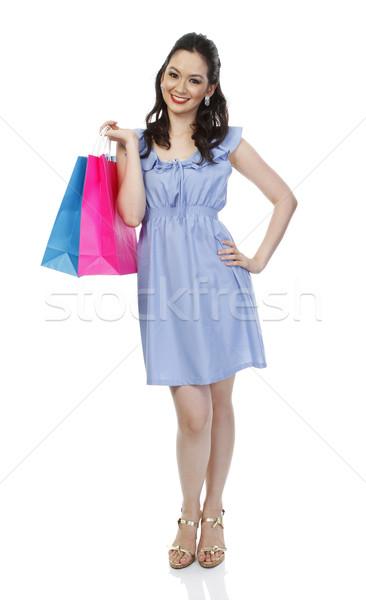 Miłości zakupy atrakcyjny modny kobieta Zdjęcia stock © lorenzodelacosta